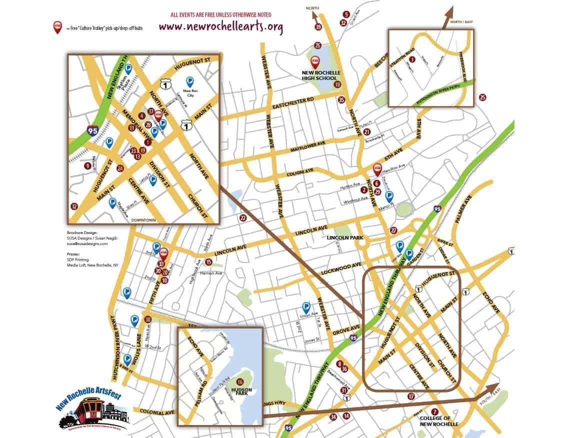 ArtsFest 2018 Map