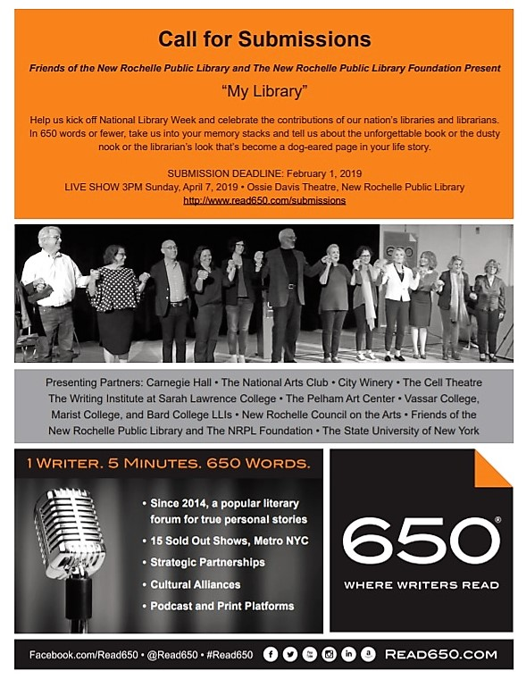 "Spoken Word: READ 650 Seeks entries on theme ""My Library"