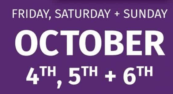 October 4th, 5th and 6th